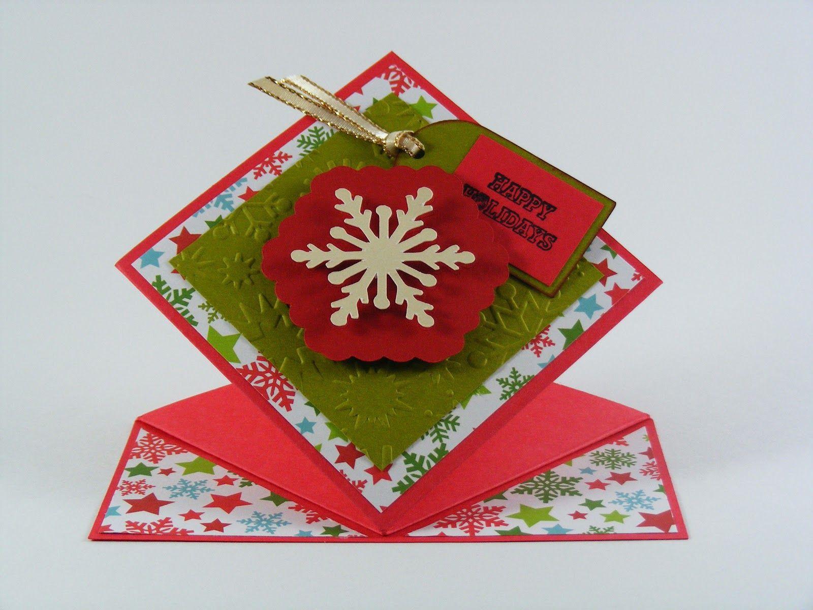 Karon's Krafty Korner-spring fold card