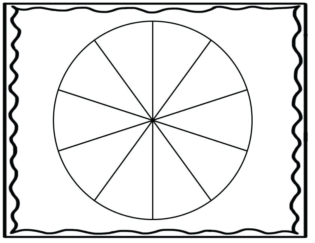 Board Game Template Printable Section Blank Spinner Wheel Free Fascinating Templates Fidget Cake