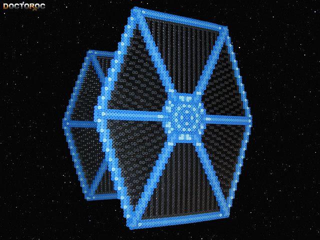 Star Wars Pixel Art Hama Beads A 3 D Bead Sprite Of A Tie