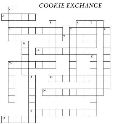 Cookie Exchange Crossword Puzzle Cookie Exchange Cookie Swap Party Christmas Cookie Exchange