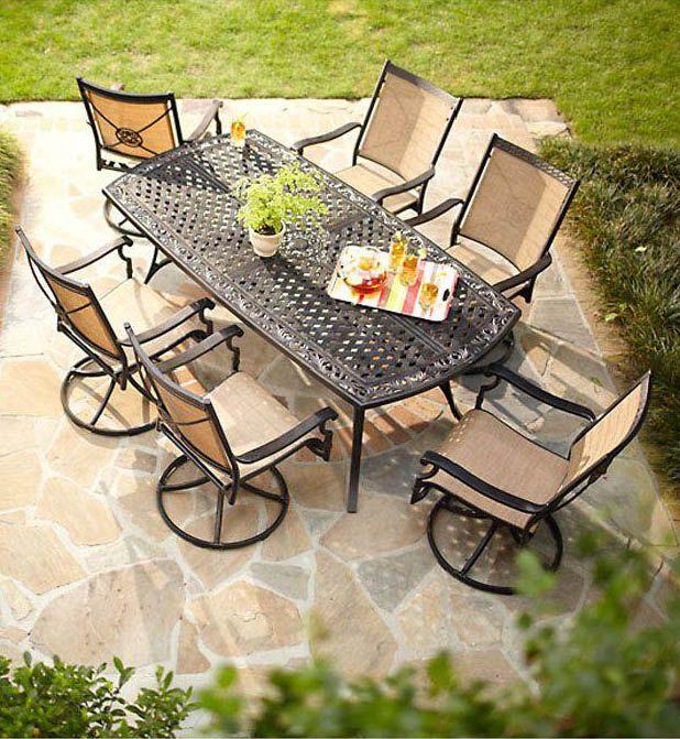 Piece Patio Dining Set Asr 1148, Solana Bay 7-Piece Patio Dining Set