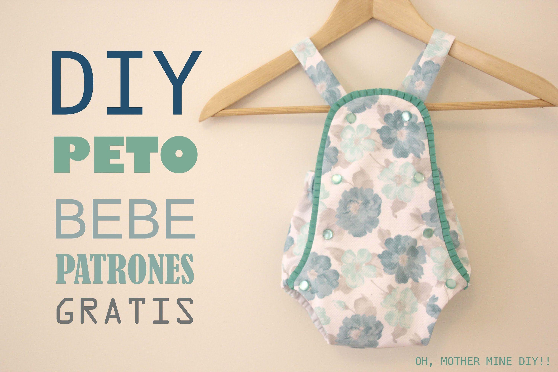 DIY Peto pelele de bebe (patrones gratis) | patrones ropa para niños ...