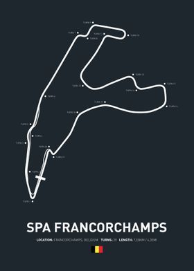 Race Circuits Sport poster prints by Denyon Emmens | Displate | Displate thumbnail