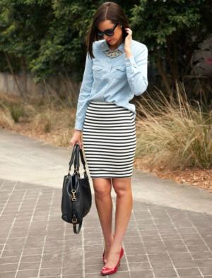 8edb9ca270 Outfits que te animarán a vestirte con faldas pegaditas