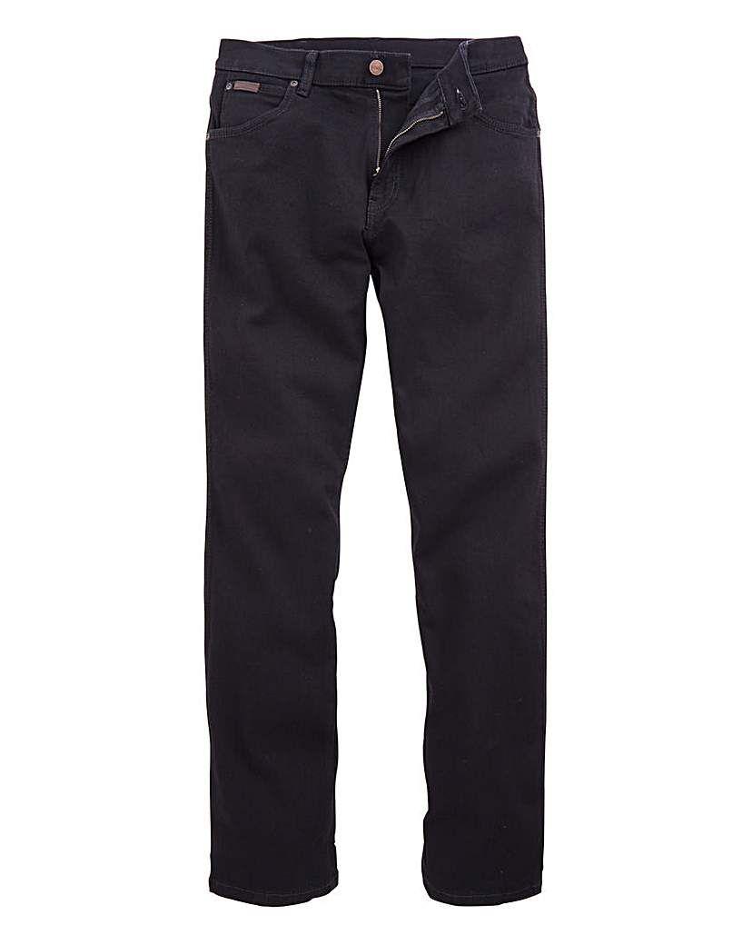 Wrangler Texas Stretch Regular Fit Denim Jeans New Men's Black Overdye All Sizes