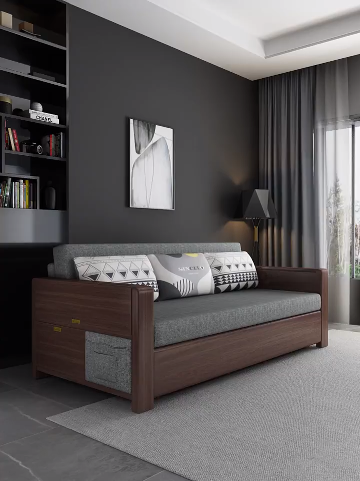 Small Grey Sofa Bed Video In 2020 Sofa Bed Design Bedroom Bed Design Bed Design Modern