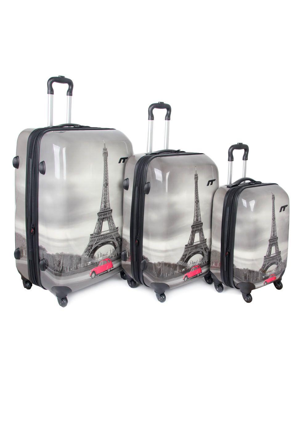 IT Luggage World's Lightest 2 wheel Medium Black Suitcase | Black ...