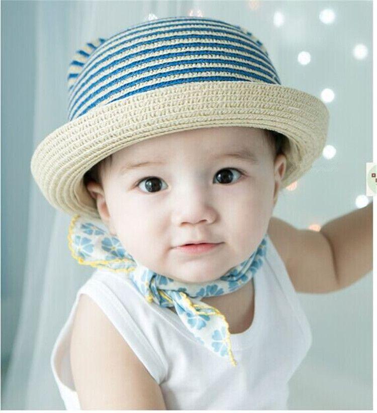 Aliexpress.com   Buy Baby Hat Striped Beach Straw Hat Summer 2015 ... c95a0b4ecc2c