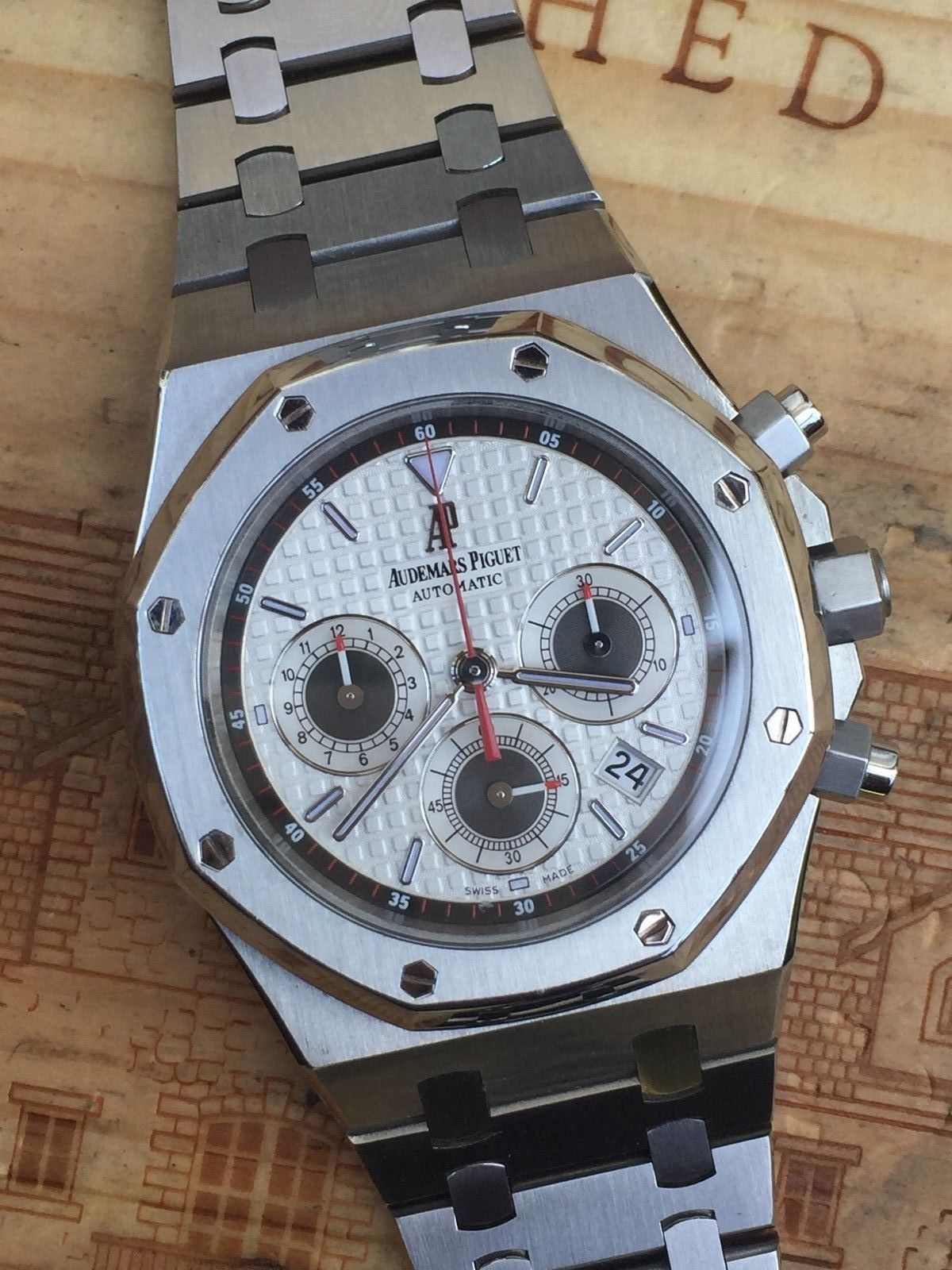 6f6c10a035f Audemars Piguet Royal Oak Chronograph Panda Dial 39mm Ref #26300ST ...