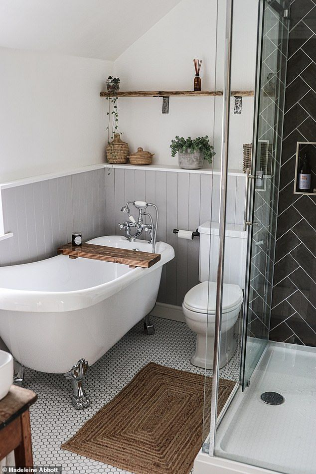 Photo of First-time buyer turned a tiny bedroom into a spacious bathroom