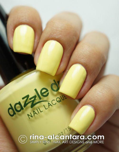 Dazzle Dry Frozen Lemonade Dazzle Dry Color Swatches Dry Nail Polish Nail Colors Lemon Nails