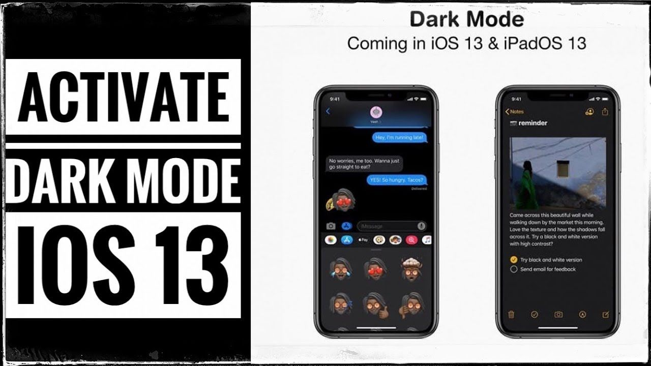 How to enable dark mode in ios 13 on iphone and ipad