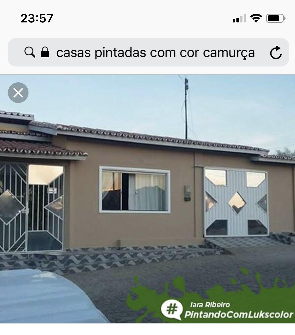 Casas pintadas de marrom externa