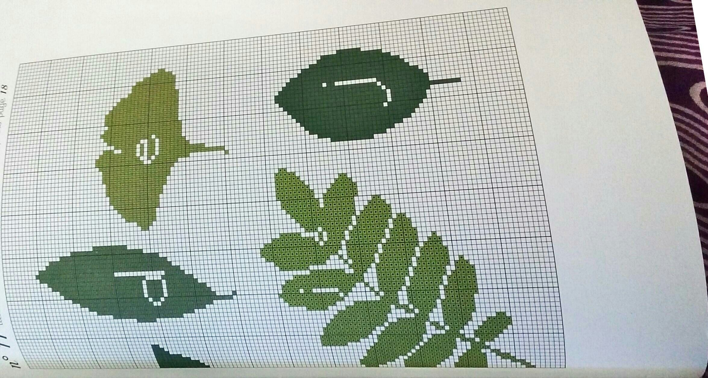 Cross stitch leaf alpha