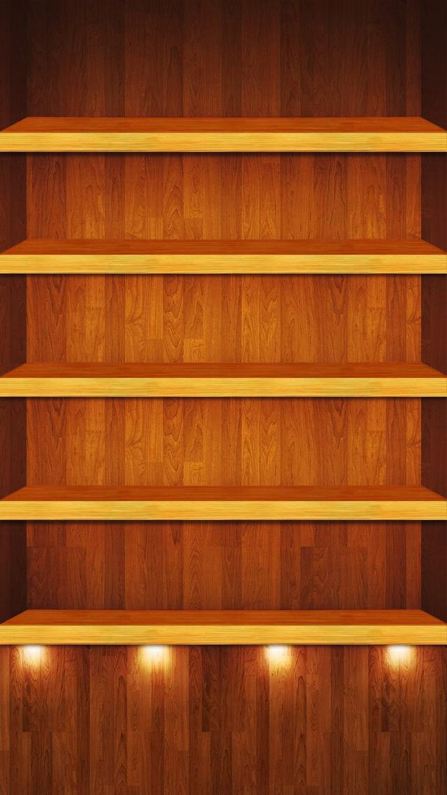 If You Have Got A New Shiny IPhone 5 And Realized That Your Old Shelf Shelve Wallpapers Are Too Small For Screen Then Dont Worry Here 30 Shelves
