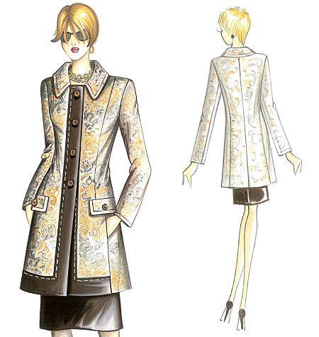 F2541 | Marfy Coat | Coats / Capes | Butterick Patterns | sket ...