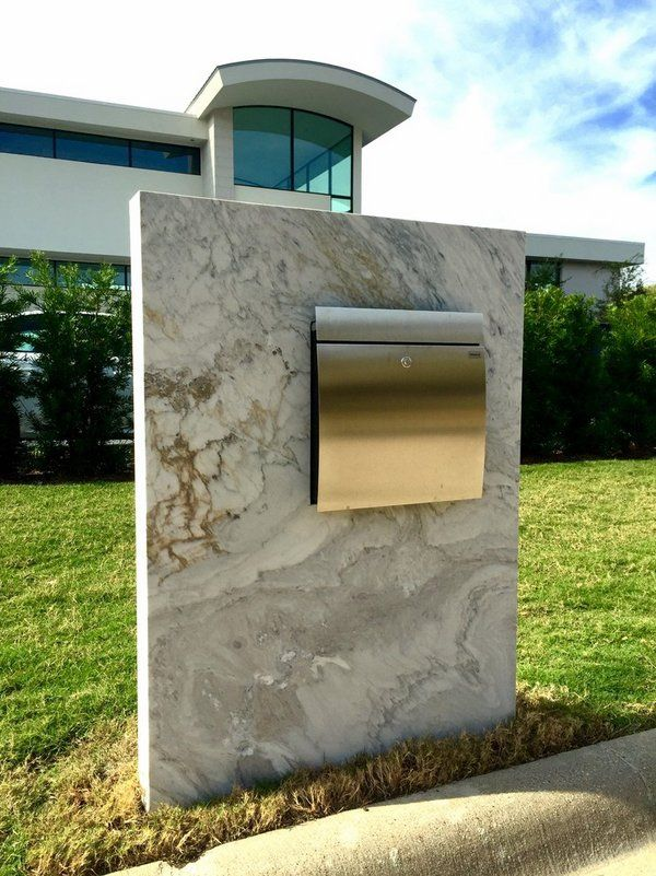 contemporary mailbox post ideas