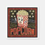 Movie Theatre Marquee Home Cinema Popcorn Custom Napkins   Zazzle.com