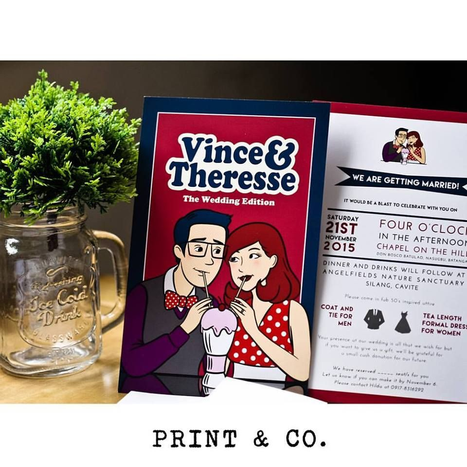 Bring out your inner comic geek with this invite from PRINT & CO ...