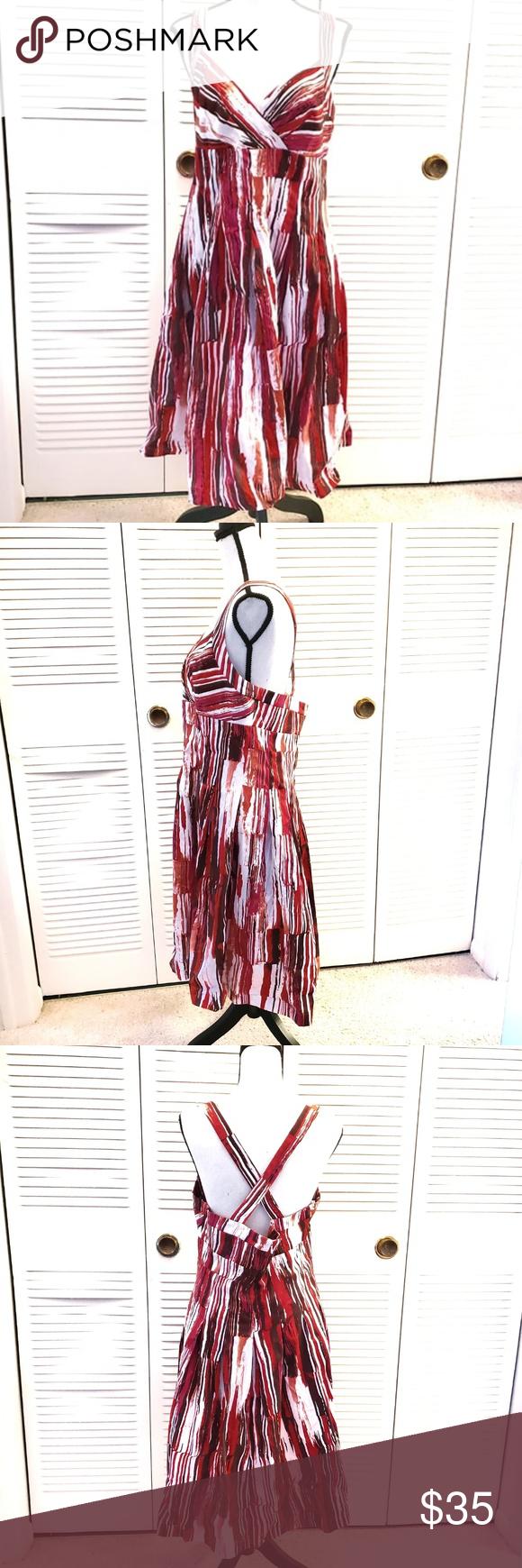 Calvin Klein Size 14 Cotton Summer Dress Size 14 Calvin Klein Cotton Mix Summer Dress Size 14 White Red And P Cotton Dress Summer Summer Dresses Summer Cotton [ 1740 x 580 Pixel ]