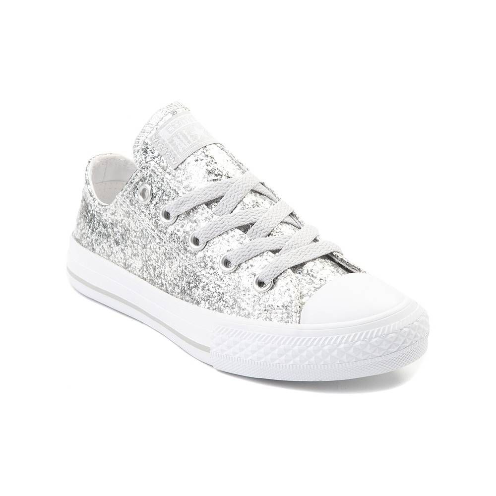 a35336d069a5 Youth Tween Converse Chuck Taylor All Star Lo Glitter Sneaker - Silver -  1399500