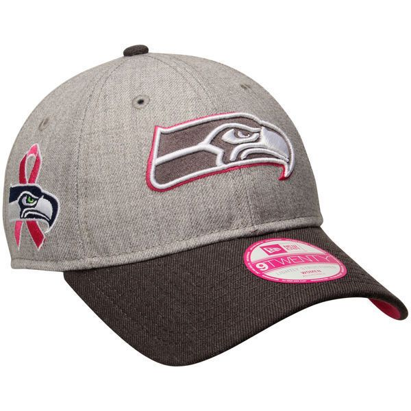 NFL Women s Seattle Seahawks New Era Breast Cancer Awareness Adjustable Hat   NewEra  SeattleSeahawks 03e505819