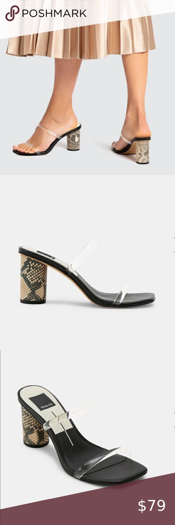 Nib Dolce Vita Noles Heels In Black Crystal 7 5 In 2020 Shoes Women Heels Dolce Vita Heels