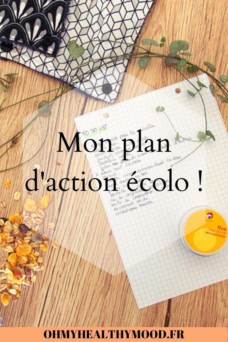 Mon Plan D Action Ecolo En 2020 Ecolo Vie Ecologique Astuce Naturelle