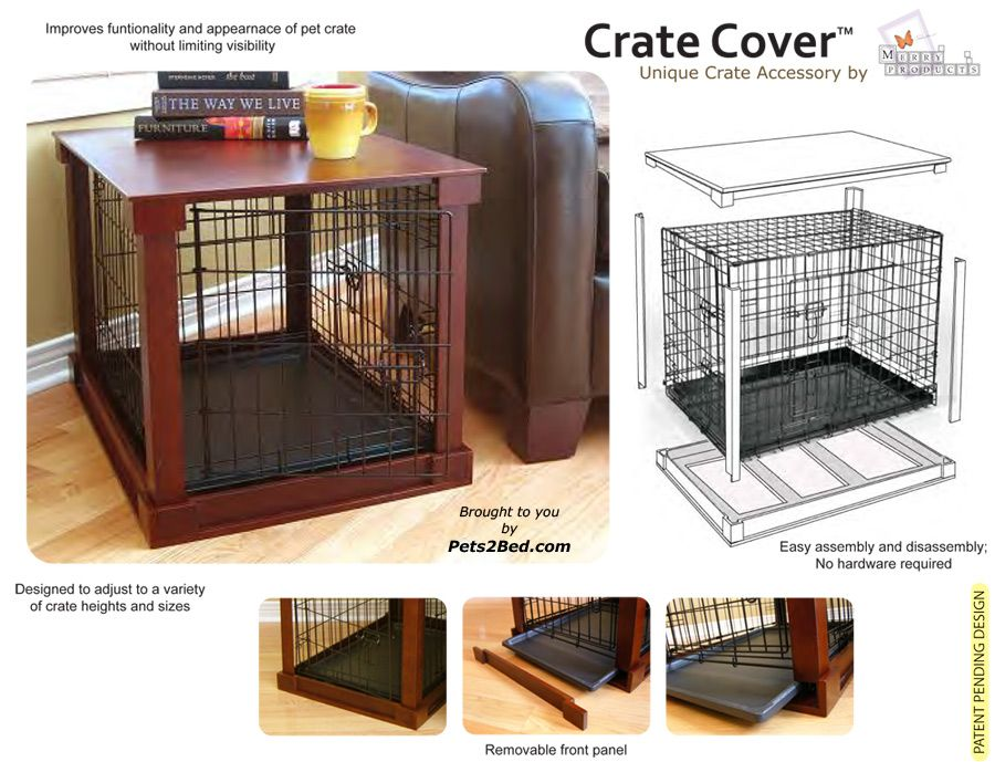 its a space saver and actually doesnt look bad!Dog crate