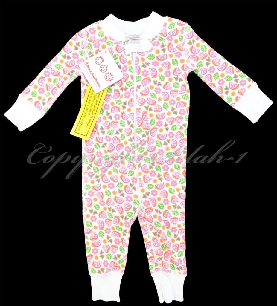 New Girls HANNA ANDERSSON Baby Sleeper Pink Heart Fruit 60 cm - Size 6-9 month