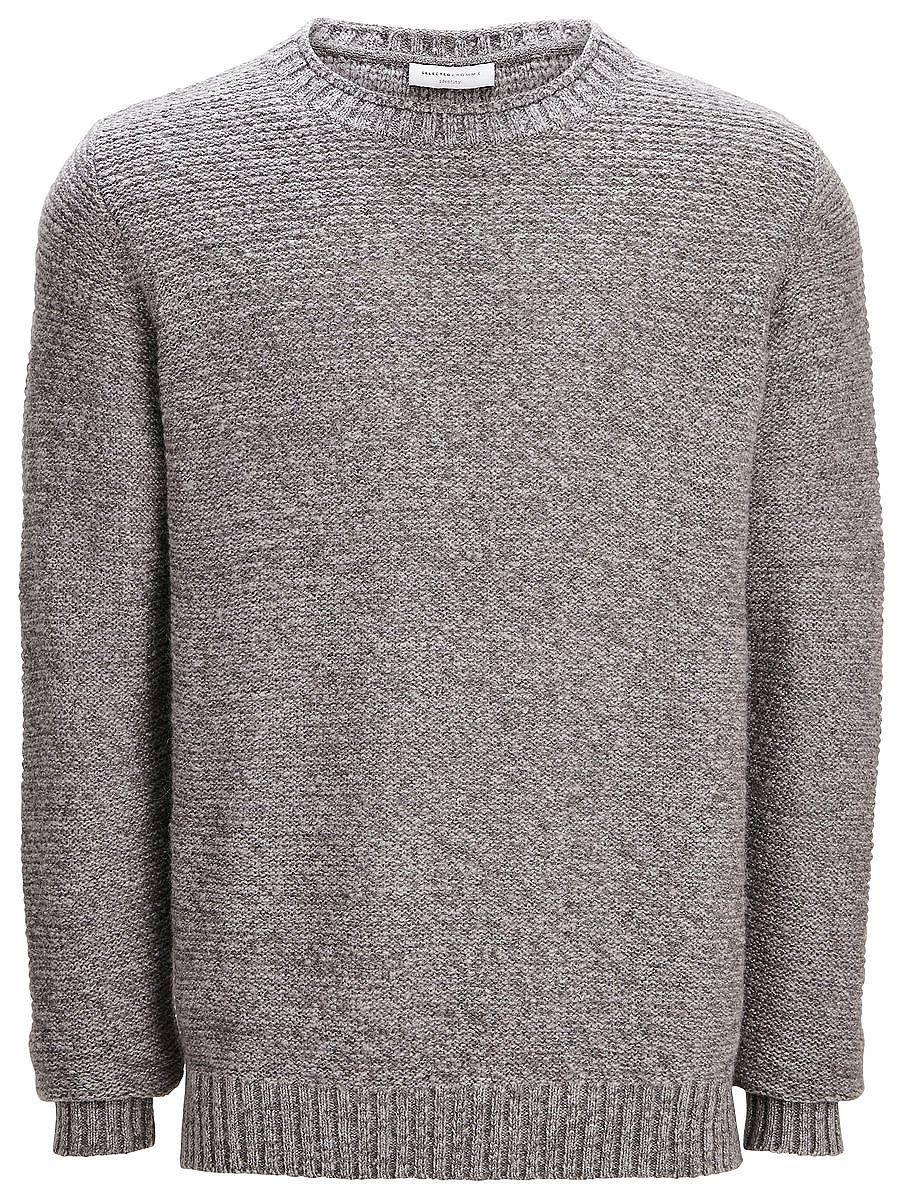 Indigo SELECTED Homme - Regular Fit - Wollmischung - Enthält Alpaka-Wolle - Crew neck - Bündchen und Saum sind gerippt - Farbübergänge - Linksstrick-Detail - Warme Wollqualität Bereichere mit diesem Crew-Neck deine Auswahl an Strick-Kleidung. Die Farbübergänge und der Linksstrick lassen den Sweater auf die coolste Weise aus der Menge hervorstechen. Trage dazu eine schwarze Hose und Derby-Schuhe...