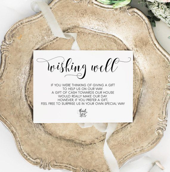 picture about Free Printable Registry Cards known as Wishing Properly Card Reward registry card Wedding day wishing properly