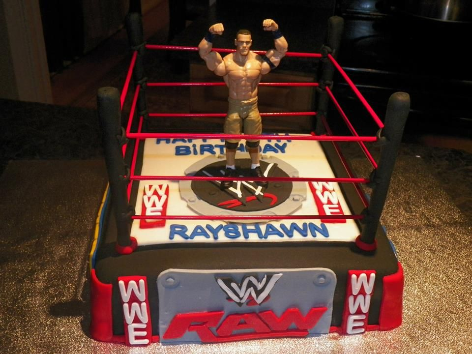 John Cena Inspired WWE Cake WWE Wrestlemania Cake Pinterest