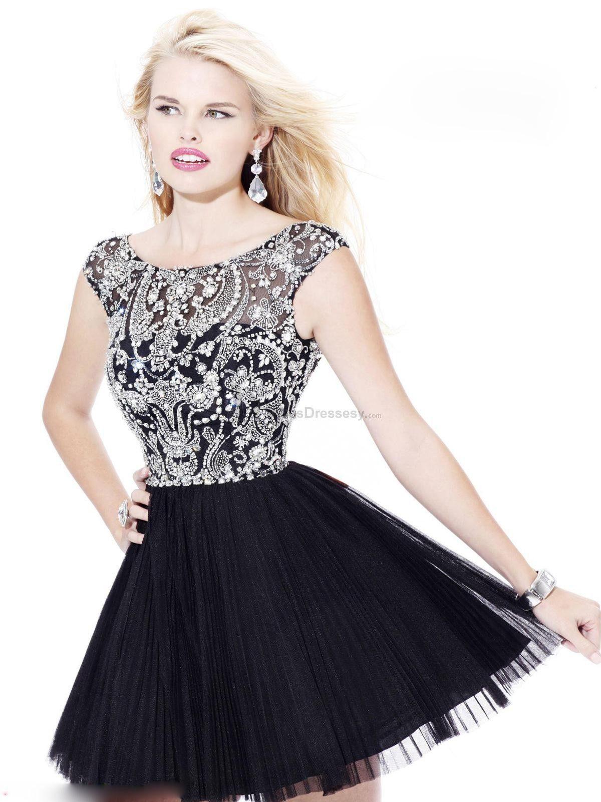 Sweet dress short black beading sweet dresses dress like a