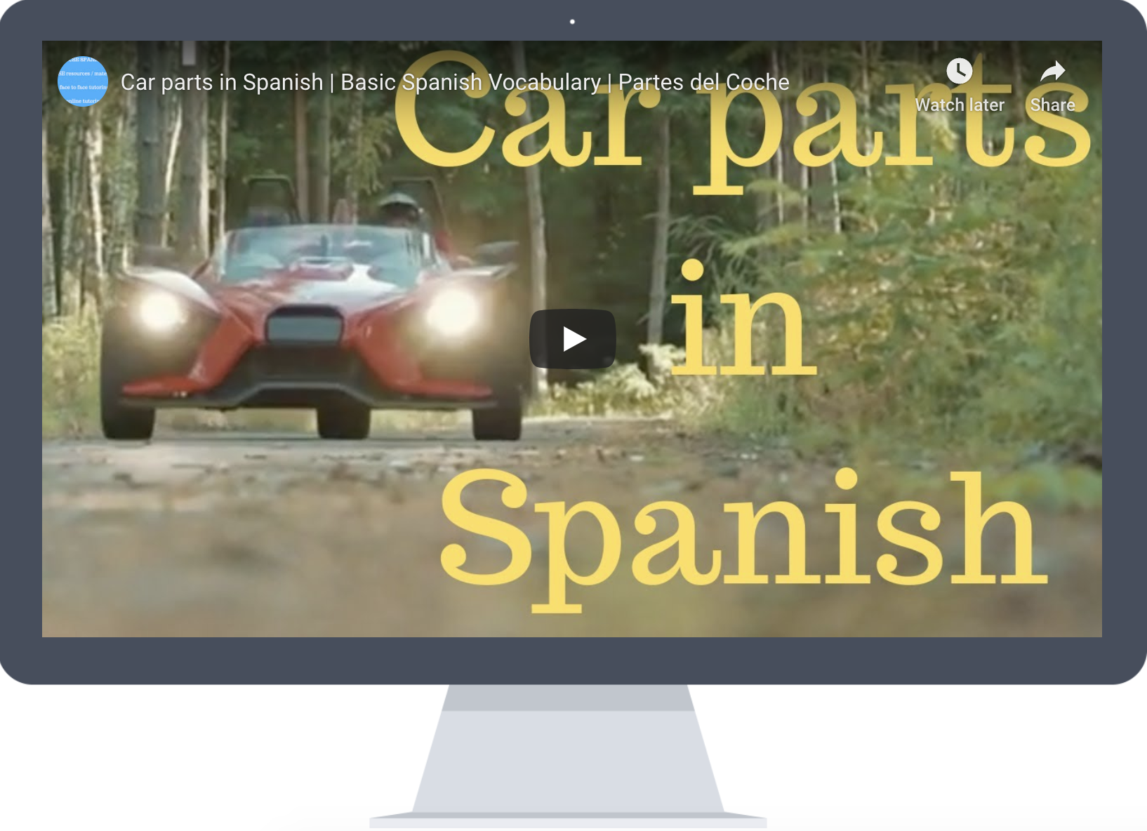 Car In Spanish Spanish Car Learning Spanish