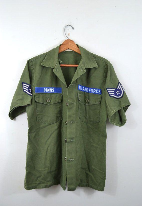 Details about US Air Force Vintage Uniform Shirt Jacket Air Command Patch