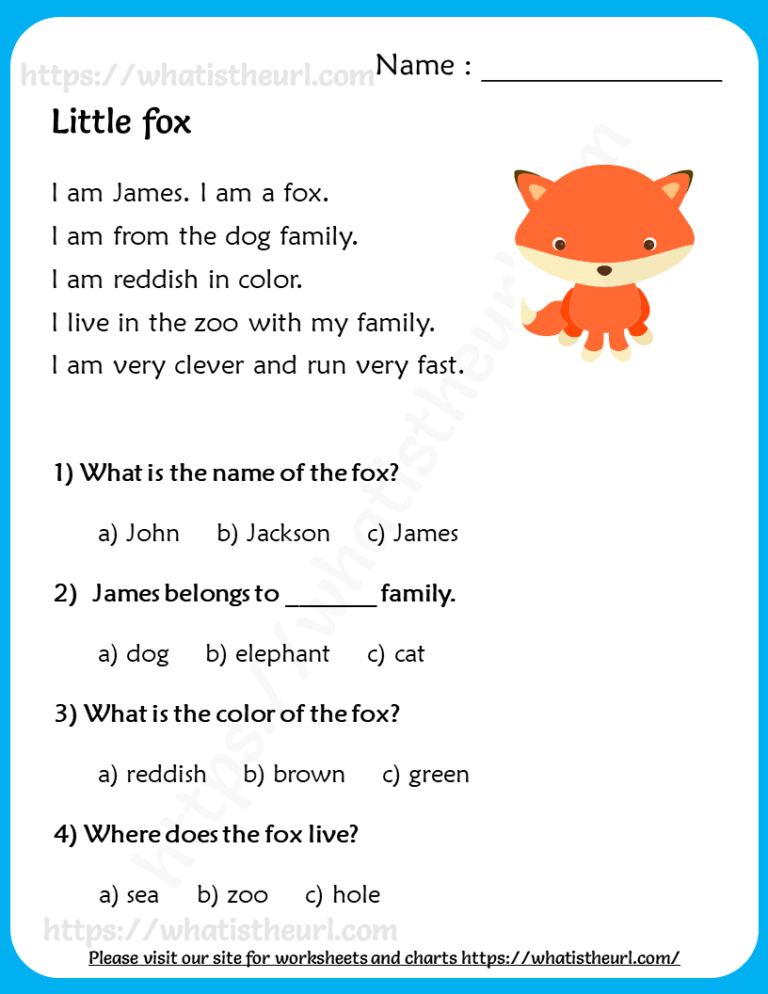 Reading Comprehension for Grade 2 - Your Home Teacher in ...