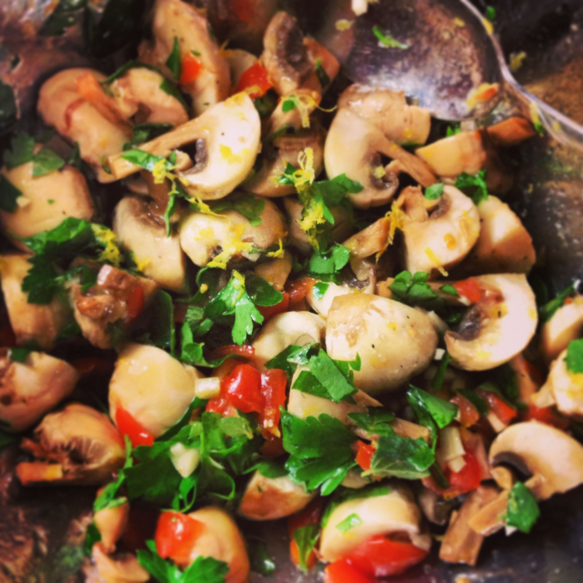 Try to cook a marinated champignon salad 82