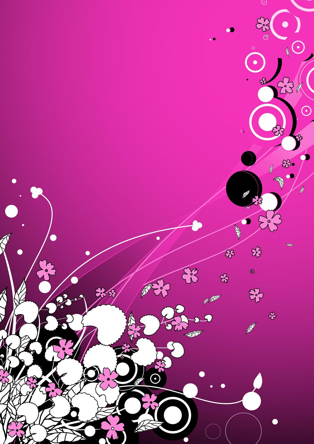 Free Vector Pink Flower Background Graphic Available For Free Download At 4vector Com Check Out Our Pink Flowers Background Flower Backgrounds Vector Flowers