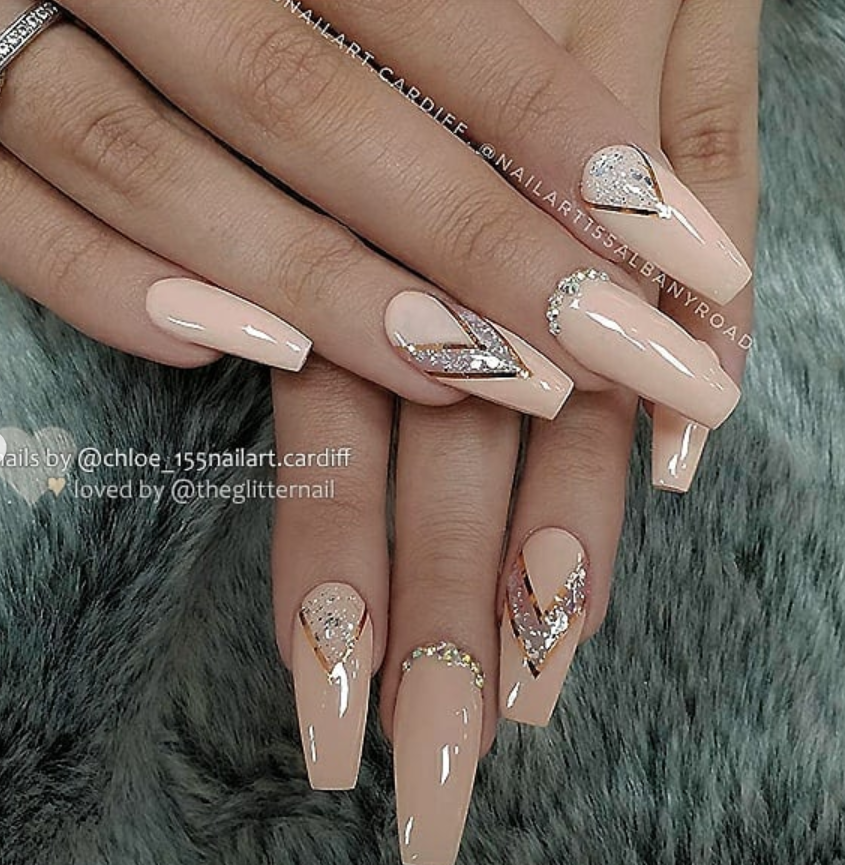 53 Chic Natural Gel Nails Design Ideas For Coffin Nails Glamour Nails Classy Nail Designs Luxury Nails