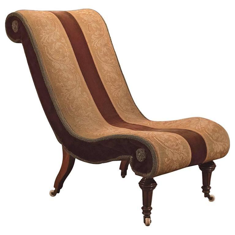 19th Century Antique Salon Chair, Victorian, circa 1850 - 19th Century Antique Salon Chair, Victorian, Circa 1850 Victorian