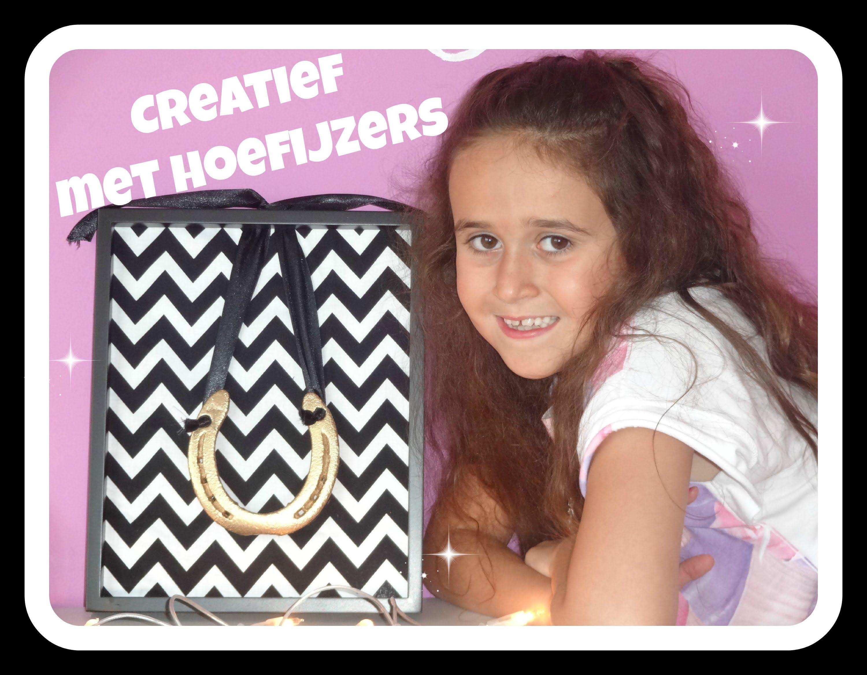 Creatief met hoefijzertjes DIY horseshoe frame craft by 7 year old ...
