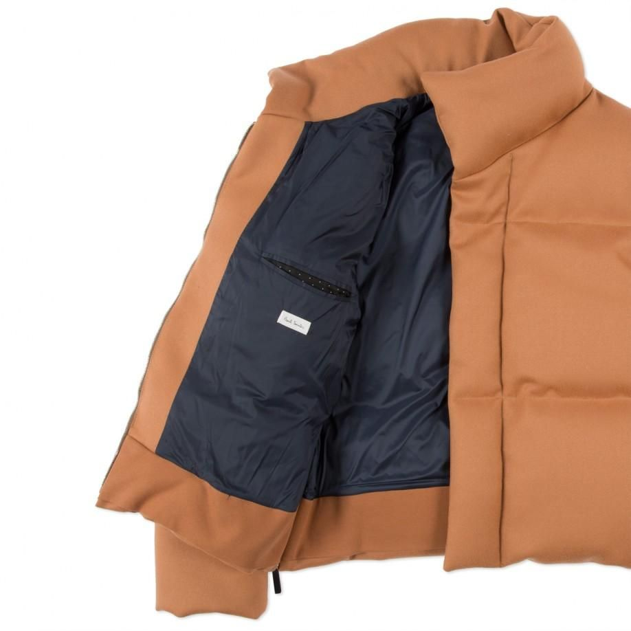 Paul Smith Men's Peach-Wool Cropped Down Jacket