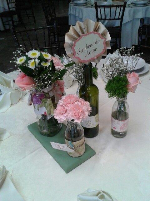 Mini arreglos florales.