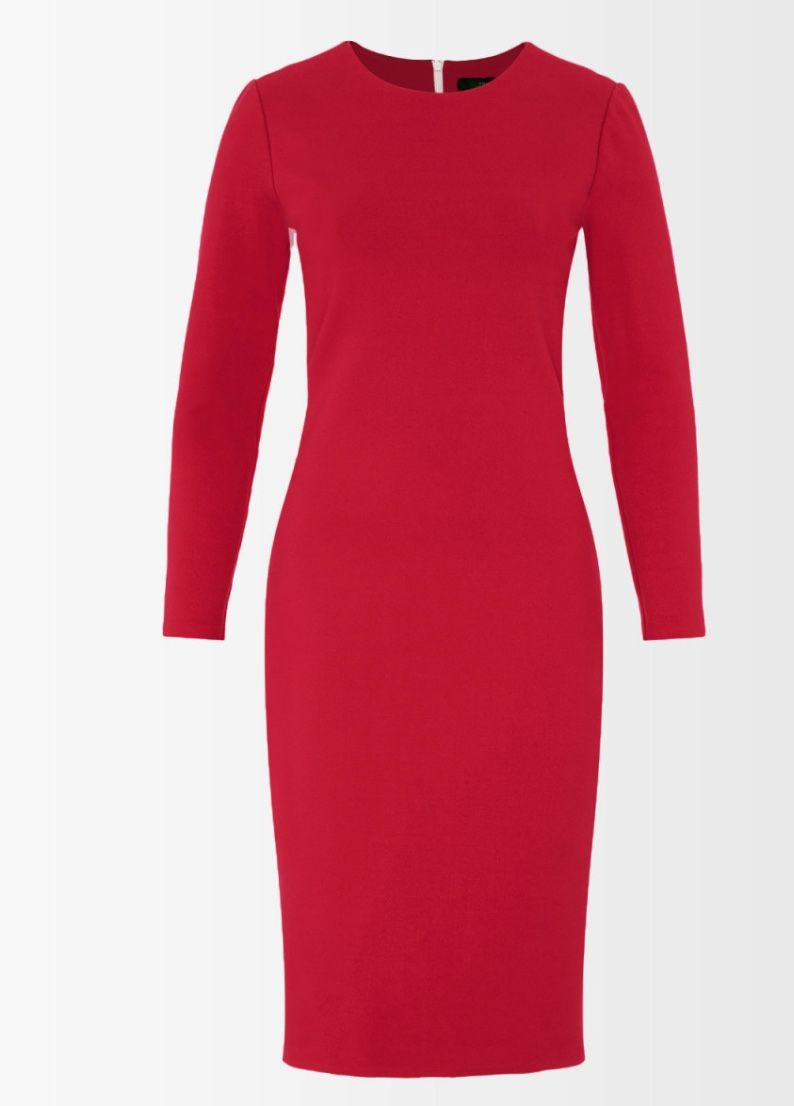 Rote jerseykleider