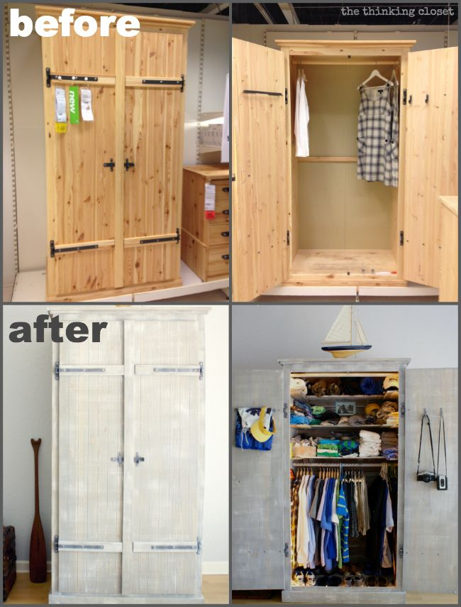 Fjell Wardrobe Ikea Hack Before After The Thinking Closet