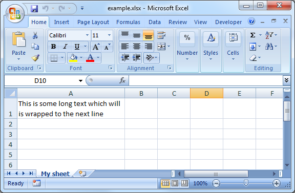 Pl Sql Excel Wrap Text Within Column Ora Excel Examples Pl Sql Excel Sql