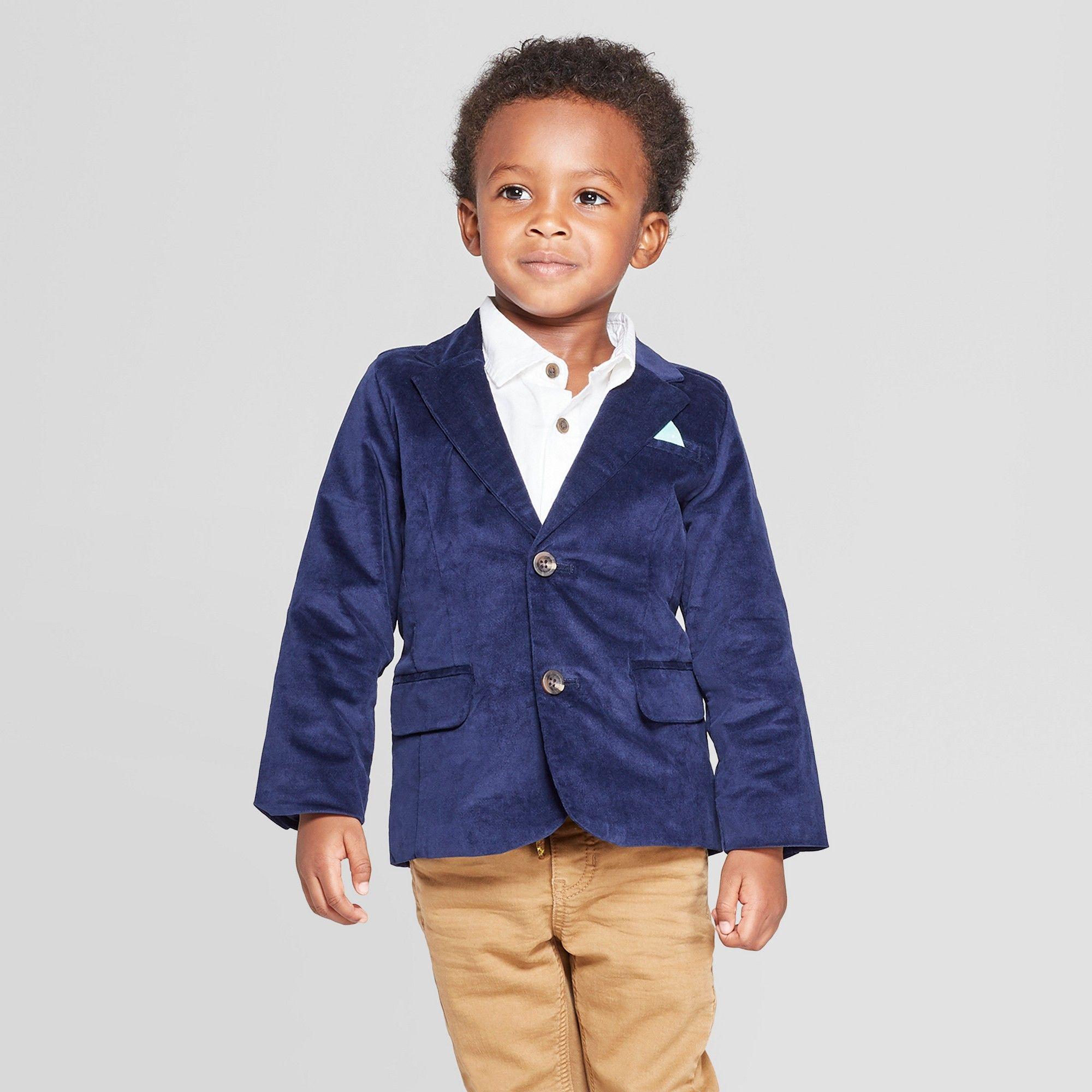 760cf55ed25 Toddler Boys' Velvet Blazer - Cat & Jack Navy 18M, Boy's, Blue ...
