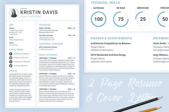 modern cv    resume template  creativework247