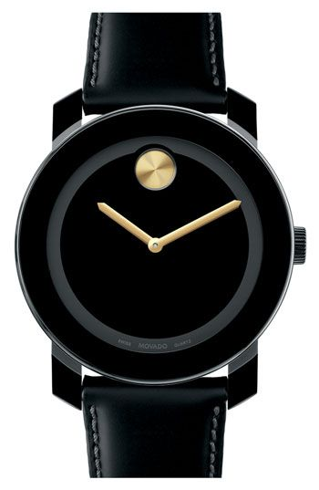 Movado Large Bold Metallic Marker Watch Nordstrom Minimalist Enough For Me 245 59 Black Leather Strap Brown Leather Strap Watch Leather Watch